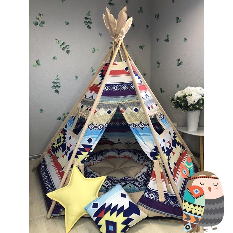 Детская палатка вигвам Полуденное Небо. Комплект 5 в 1