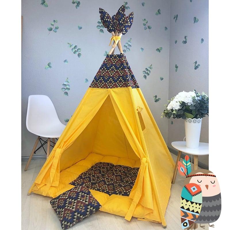 Вигвам палатка для детей Срединная Скала. Комплект 5 в 1