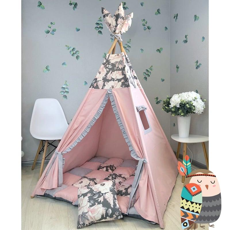 Детская палатка вигвам Долина Цветов