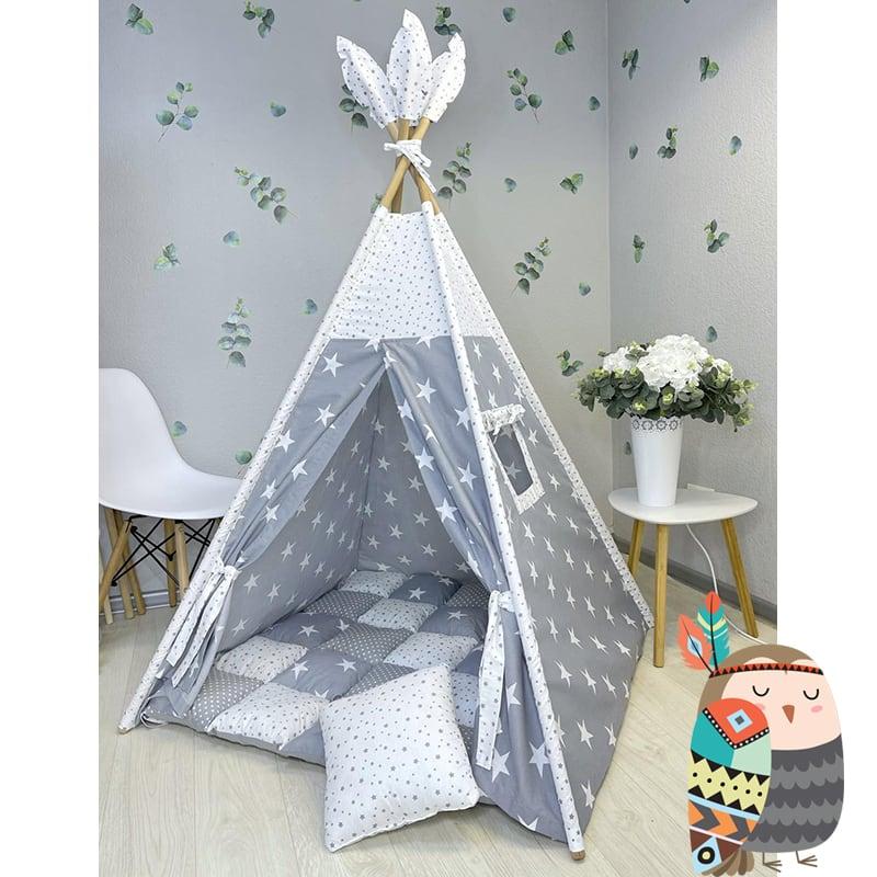 Детская палатка вигвам Снежное Небо