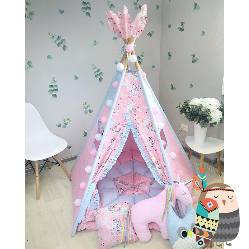 Детская палатка вигвам Дух Белой Лошади