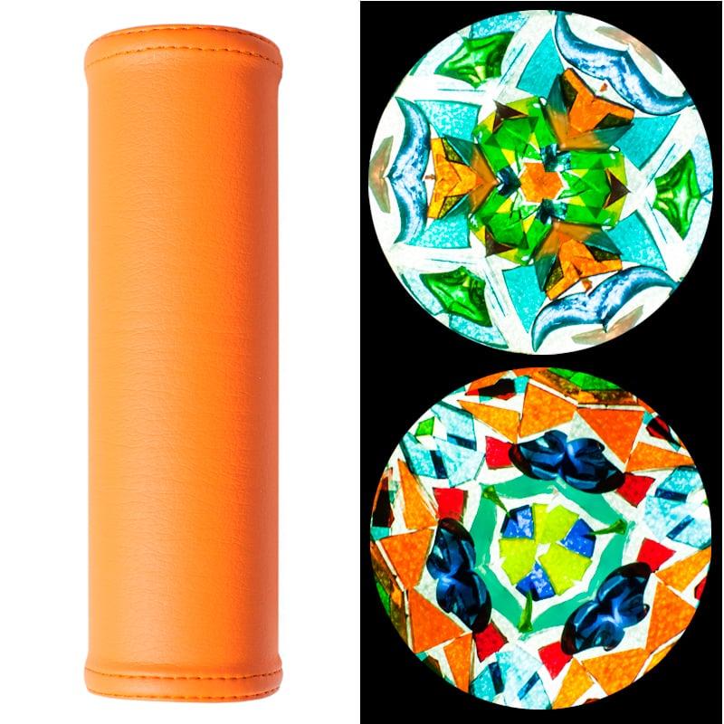 Элегантный калейдоскоп ручной работы в подарок Апельсин