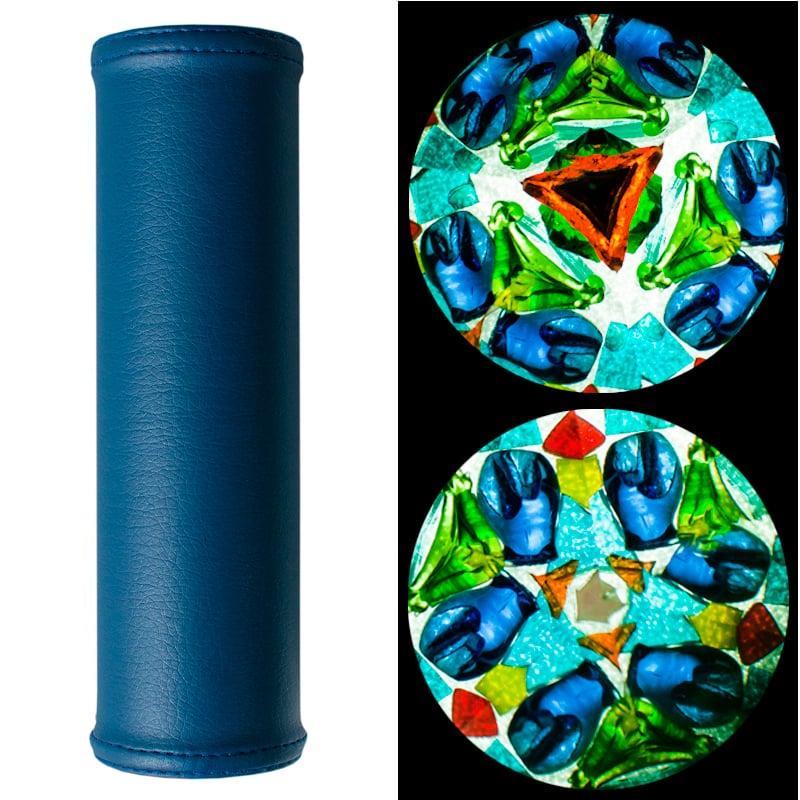 Дизайнерский калейдоскоп в подарок Синяя лазурь
