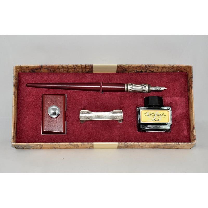 Винтажная ручка в подарок чернильная Dallaiti La Penna Bourgogne