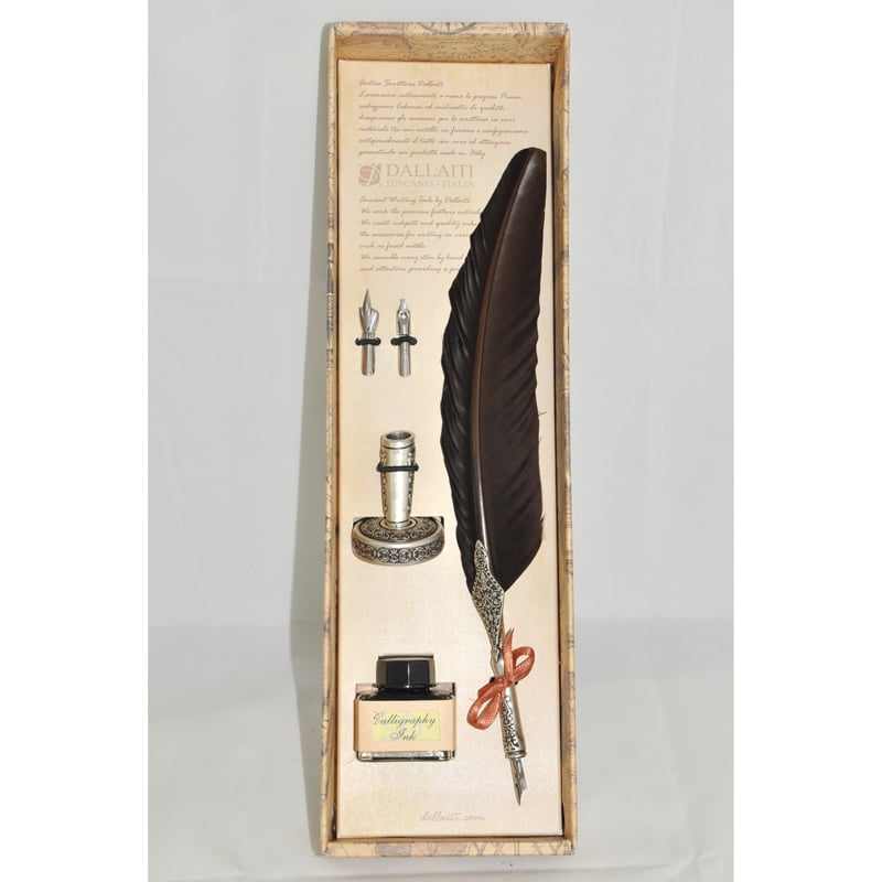 Авторская перьевая ручка в подарок Dallaiti La Penna Bourgogne
