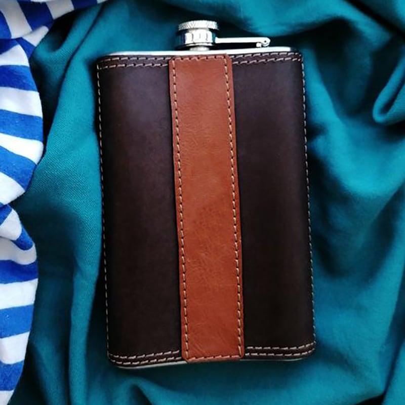 Шкіряна фляга Sea Dog brown leather
