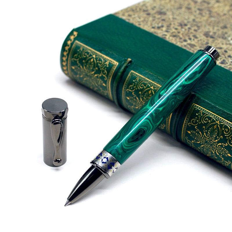 Ручка кулькова Dzen Malachite
