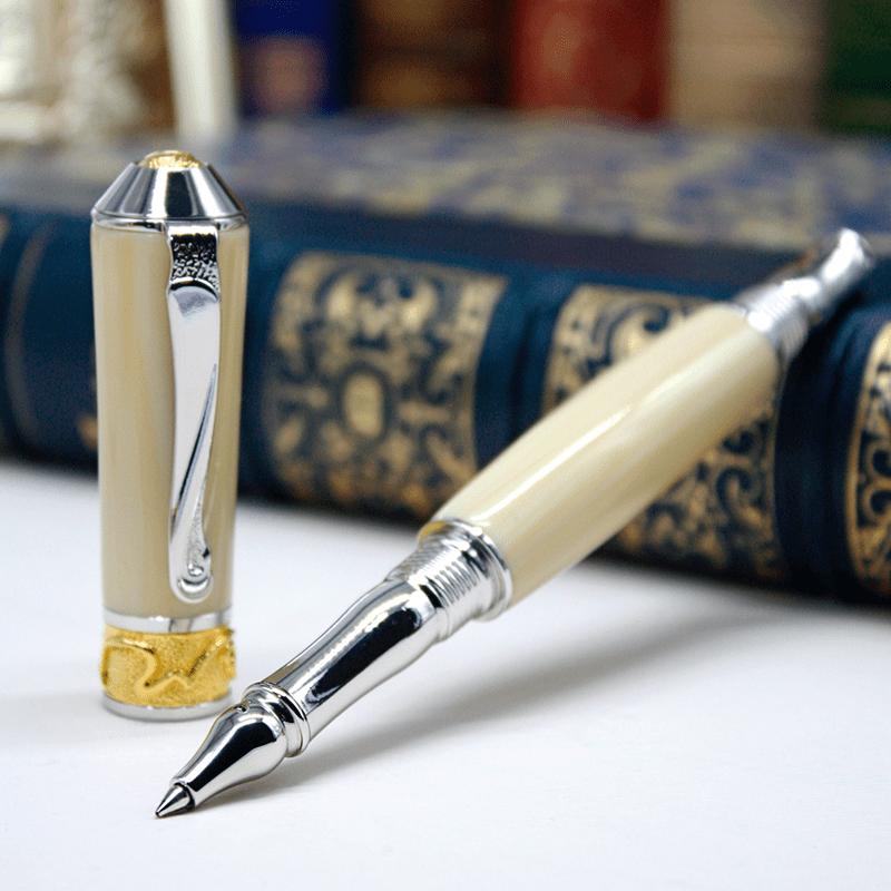 Ручка ролер White Ivory