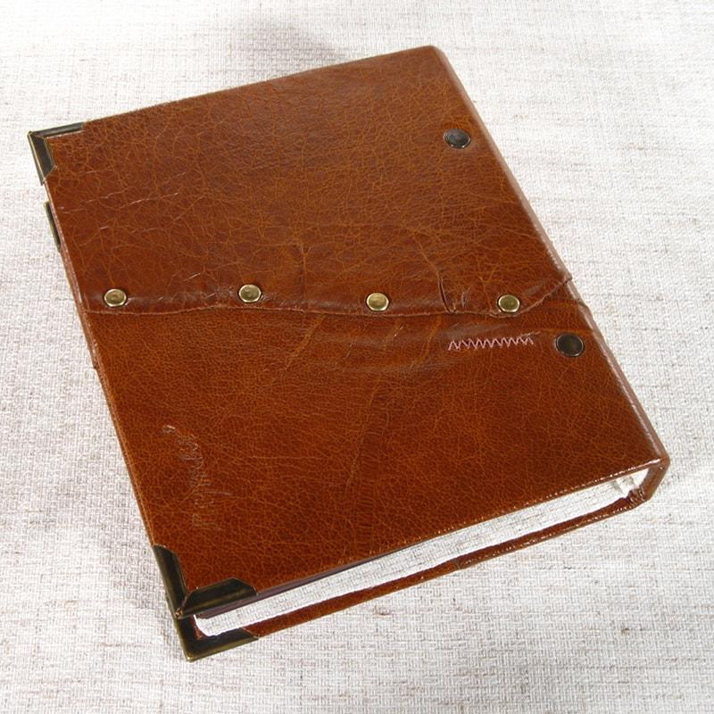 Эксклюзивный кожаный семейный фотоальбом Vintage Red leather