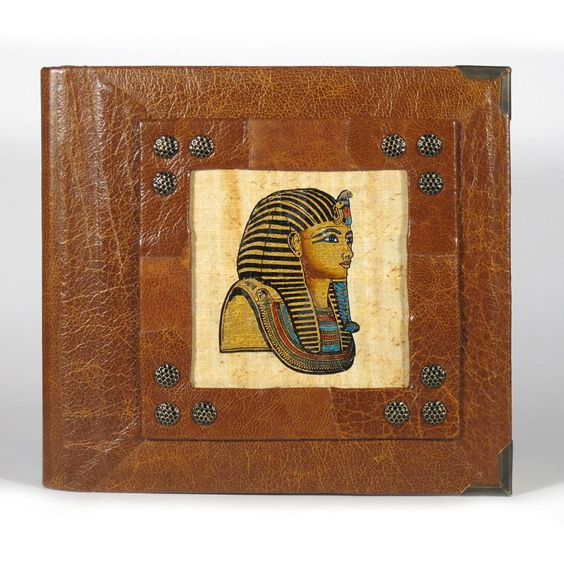 Семейный фотоальбом кожаный в подарок Papyrus Red leather