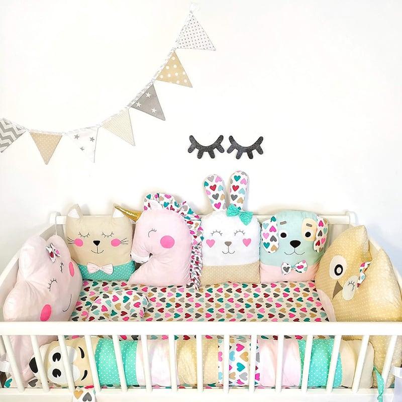 Бортики в кроватку девочке Милые Подружки