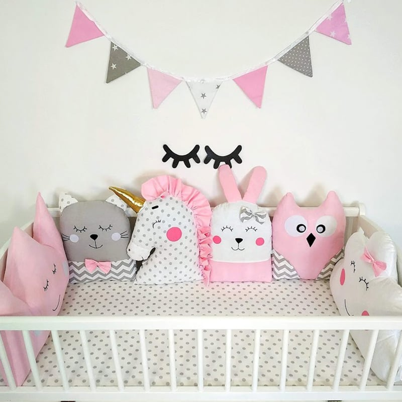 Бортики в кроватку девочке Розовая Симфония