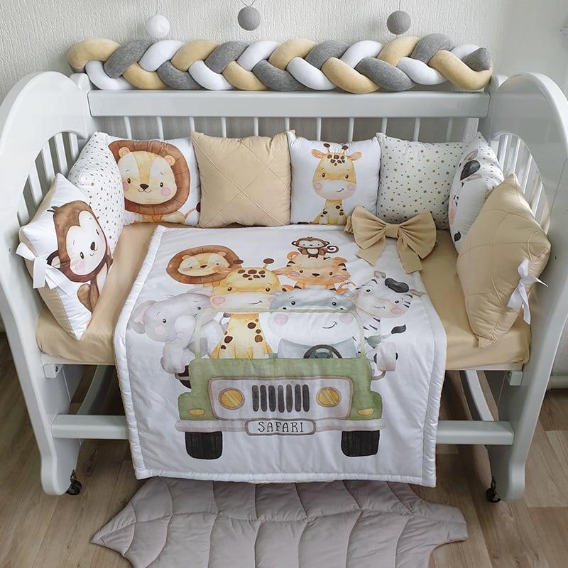 Бортики в кроватку для новорожденных Саванна