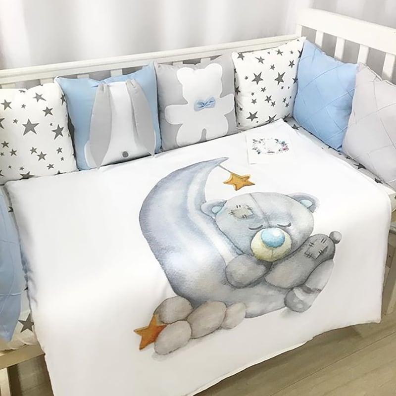 Бортики в ліжечко хлопчикові Ведмедик Тедді
