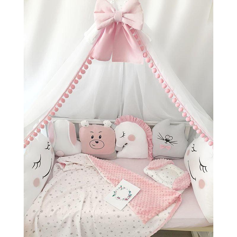 Бамперы подушки в кроватку девочке Мои Подружки