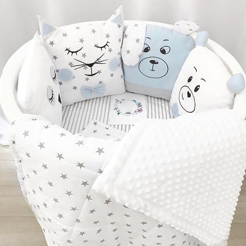 Бортики в кругле ліжечко хлопчикові Кіт Муркот