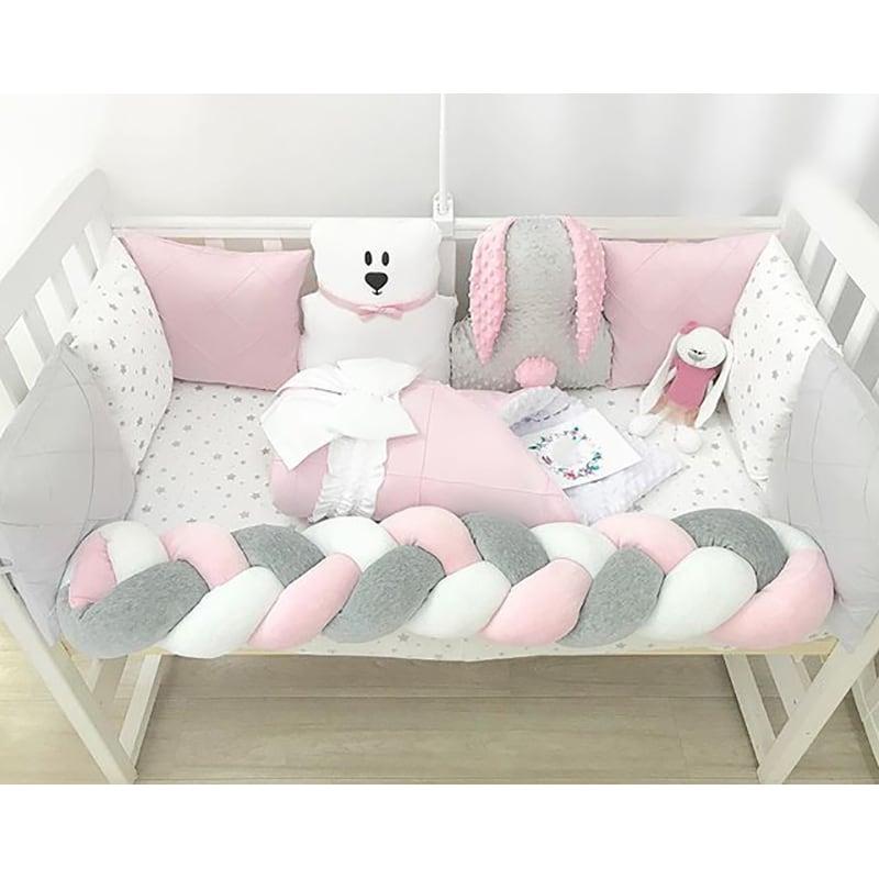 Бортики в ліжечко дівчинці Білий Умка