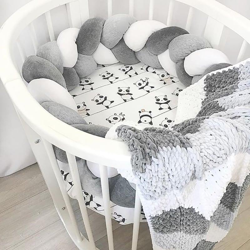 Бортики в кругле ліжечко Перлова Косичка