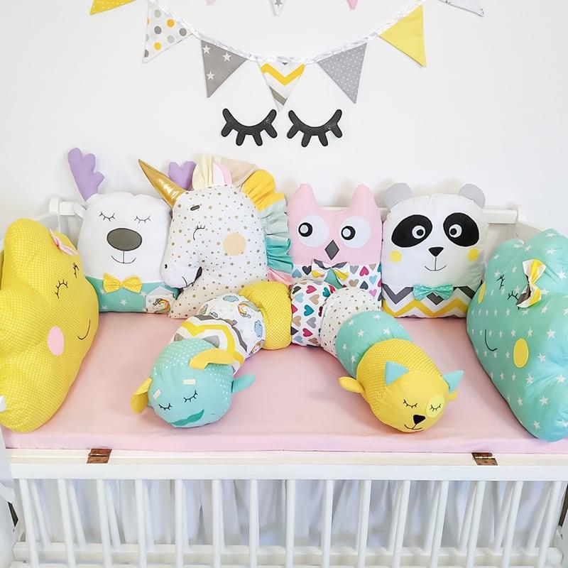 Бампери подушки в ліжечко Колискова для Єдинорога