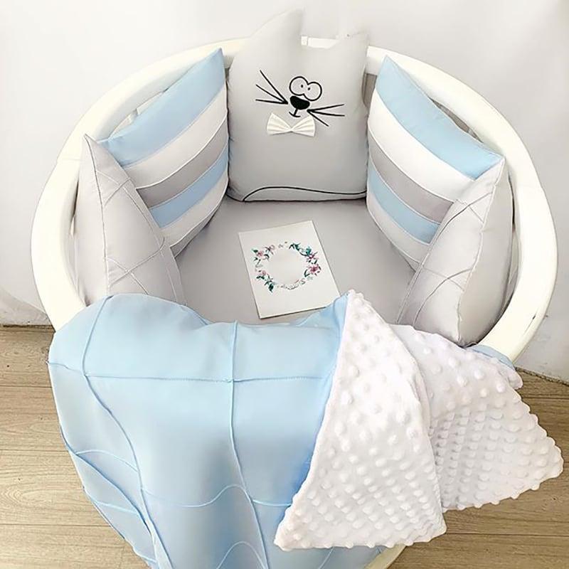 Бортики в круглую кроватку Бисерный Кот