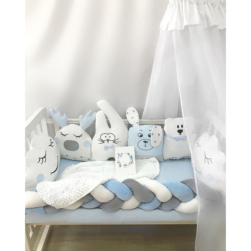 Бортики в кроватку мальчику Мои Друзья