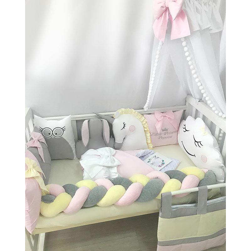 Бортики в кроватку девочки Маленькая Фея