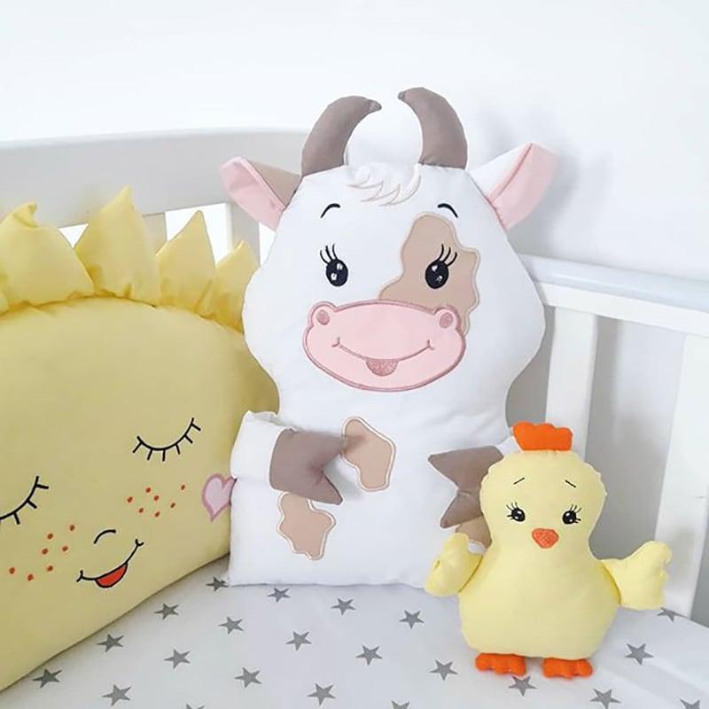 Бортики в кроватку Веселая Ферма