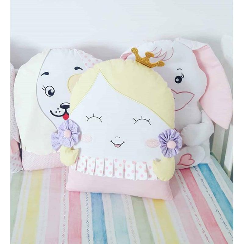 Бамперы подушки в кроватку Сказка для Друзей