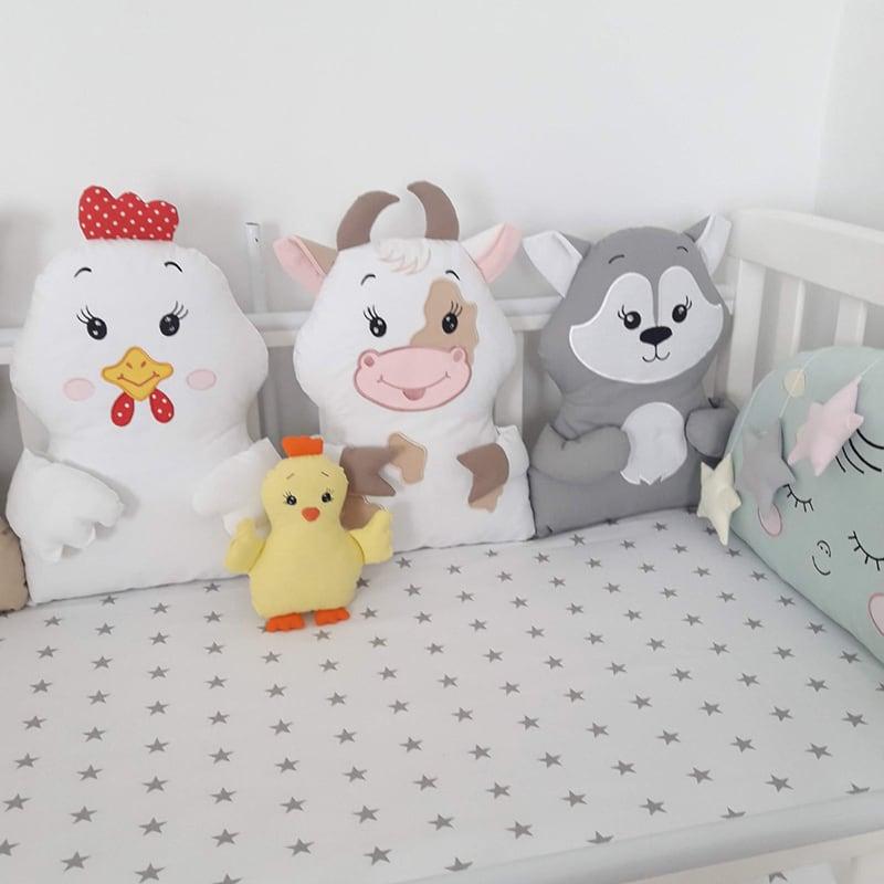Бортики в кроватку новорожденным Ранчо
