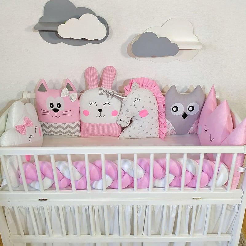 Бортик дитячий в ліжечко Pink Fairy Tale