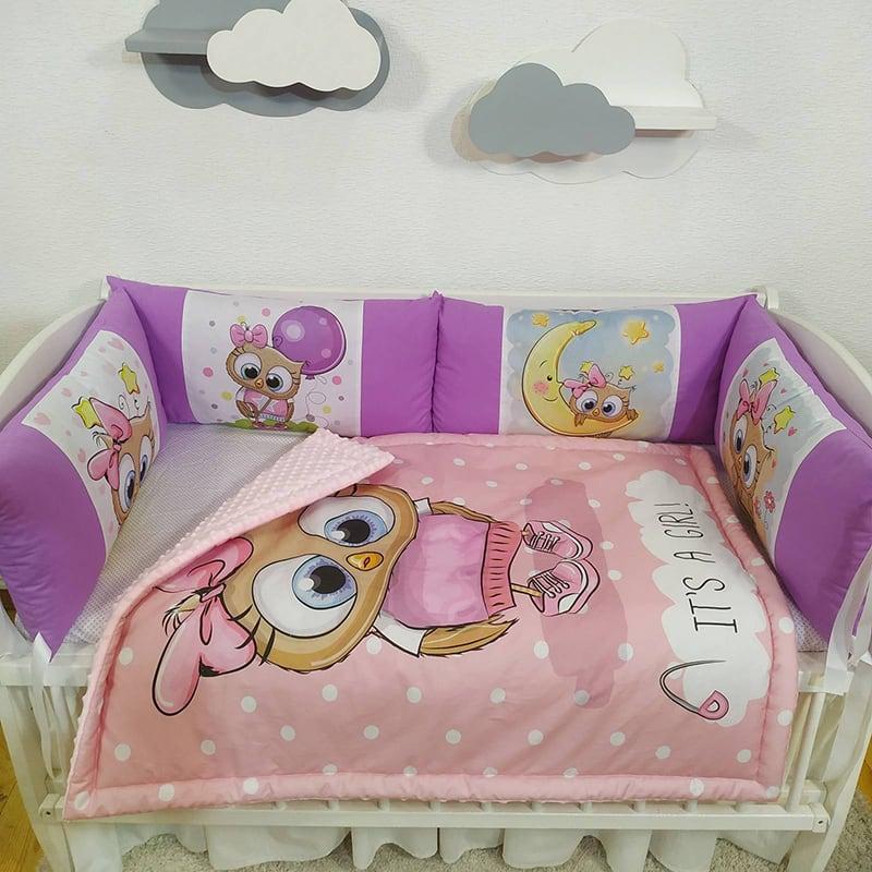 Бортик детский в кроватку My Friend Owl