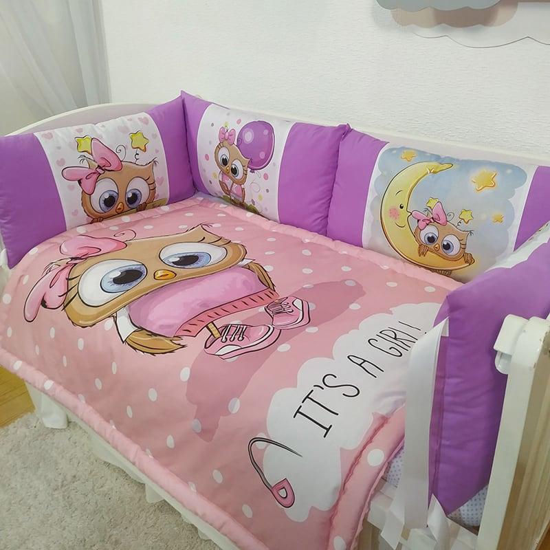 Бортик дитячий в ліжечко My Friend Owl