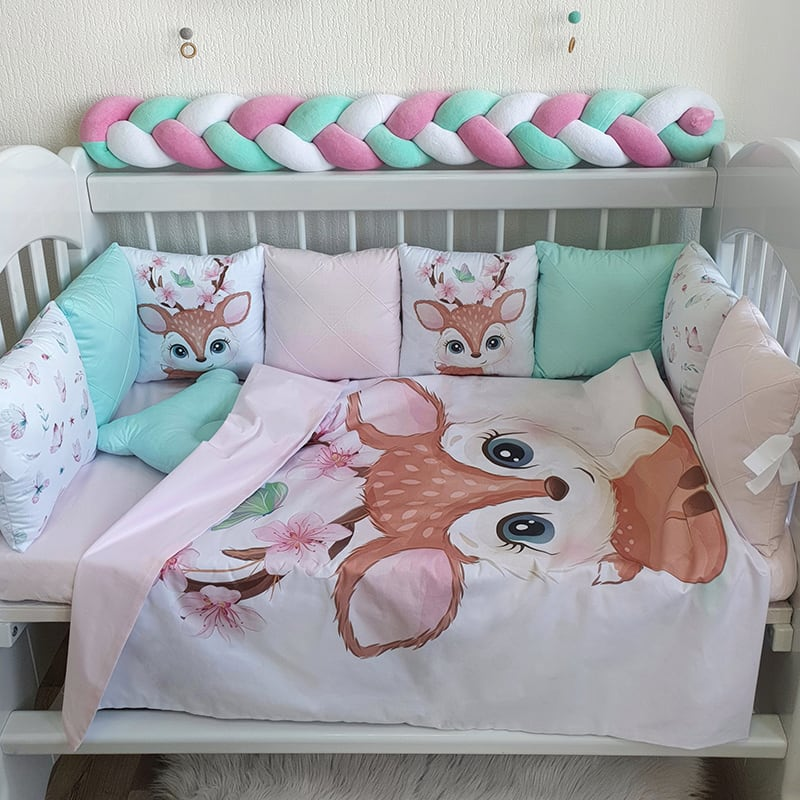 Защитный бортик для кровати Бэмби