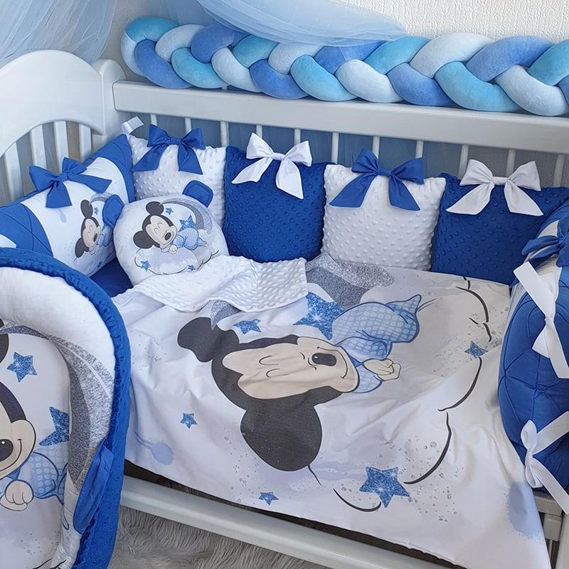 Защитный бортик новорожденным мальчикам Микки Авиатор