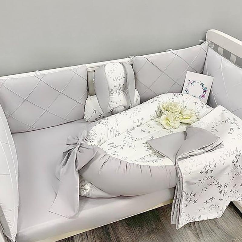 Бортик в ліжечко новонародженому перловий Бісер