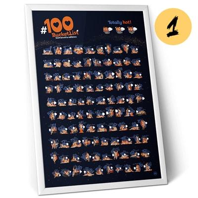 Мотивационный скретч-постер 100 BucketList KAMASUTRA Edition