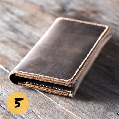 Дизайнерский кошелек YuT collection Smart Wallet brown leather