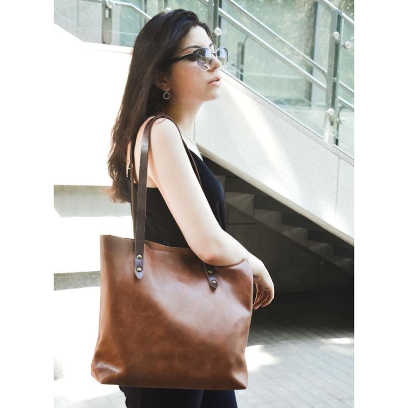 Сумка – шопер в подарок DIDENKO Red leather