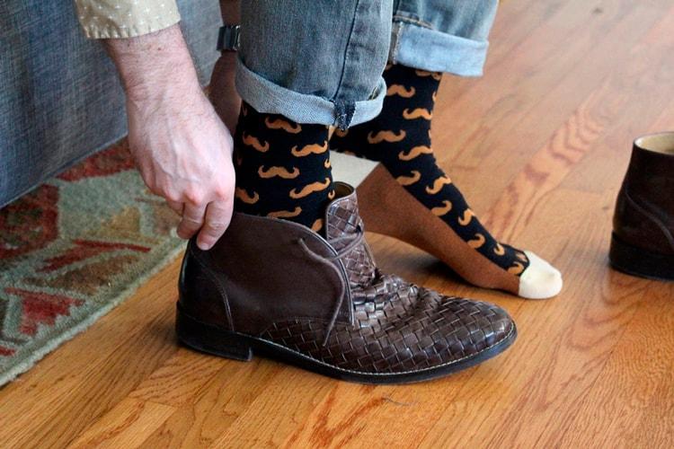 мужские носки с усами